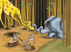 Illustration from my WIP dummy, Giraffe Jazz (2)