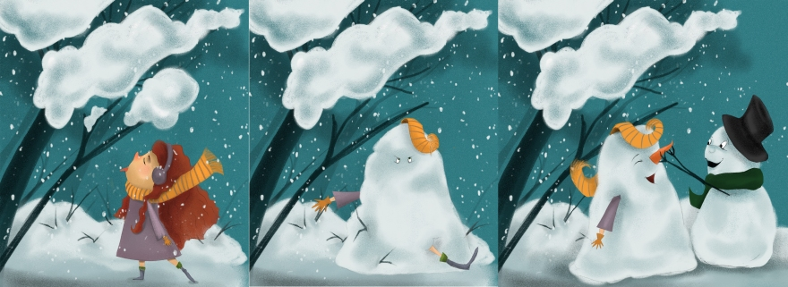 snow-scene-progression-tri-panel