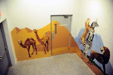 Stairwell Mural African Animal Scene