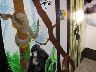 Stairwell Mural Animal Scene continued