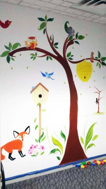 Woodland Animal Mural Image 1