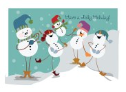 Christmas Card 1 Snowmen 2